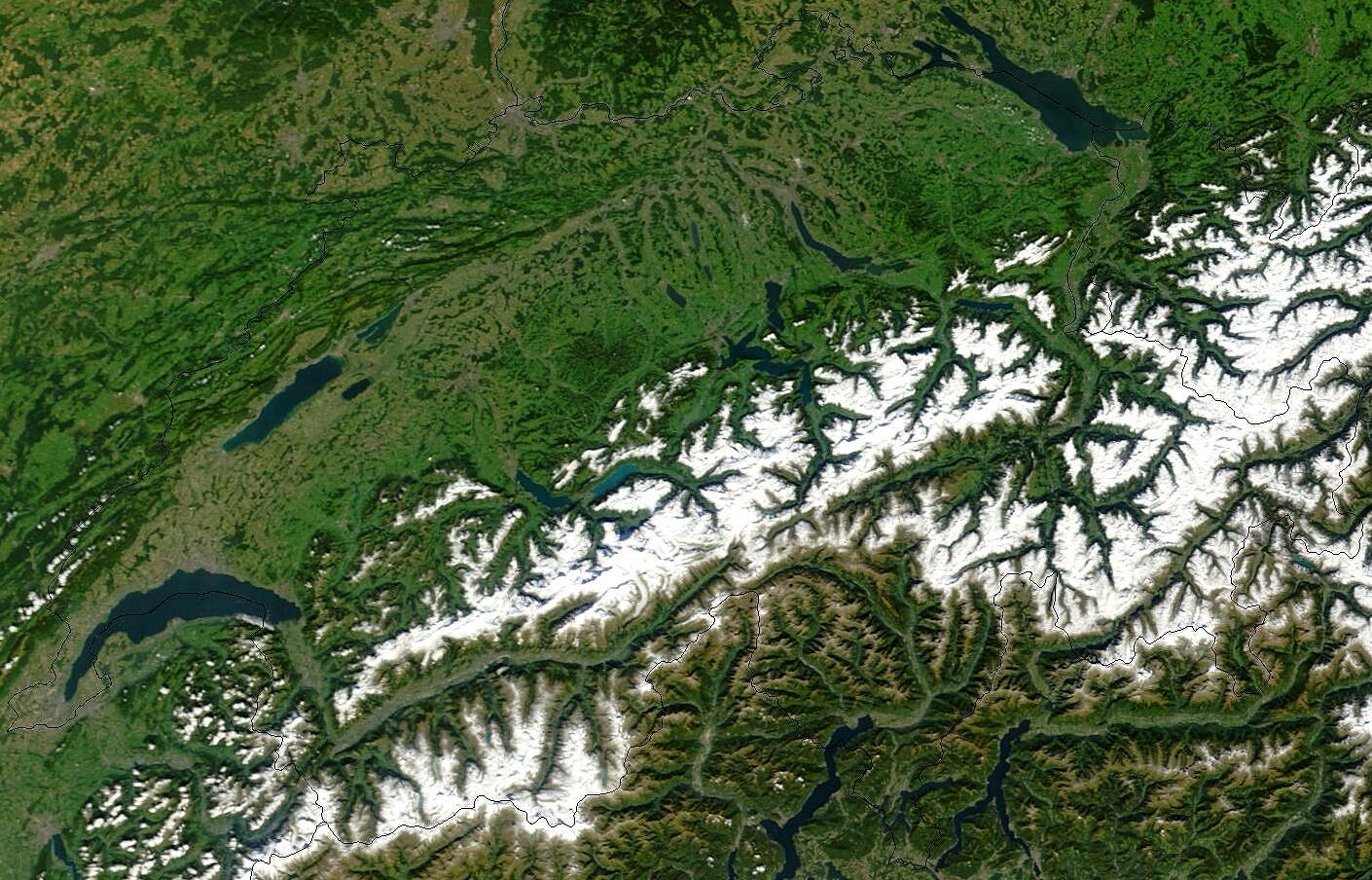 Satelitarna Mapa Szwajcarii Mapa Z Satelity Szwajcaria Europa